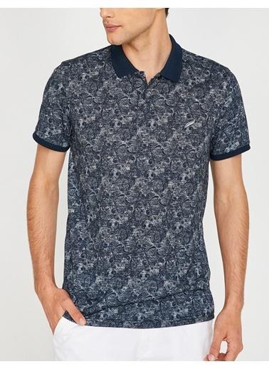 Polo Yaka Desenli Tişört-Koton
